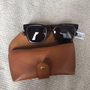 392f21c40b J. Crew Accessories - J. Crew Roadster Sunglasses   Leather Case